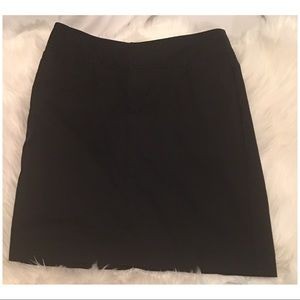Black midi skirt with back split